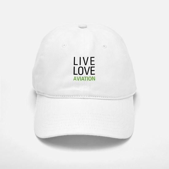 Live Love Aviation Baseball Baseball Cap