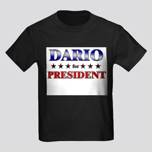 DARIO for president Kids Dark T-Shirt