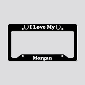 I Love My Morgan Horse License Plate Holder