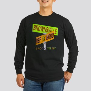 REP BROWNSVILLE Long Sleeve Dark T-Shirt