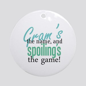 Gram's the Name! Ornament (Round)