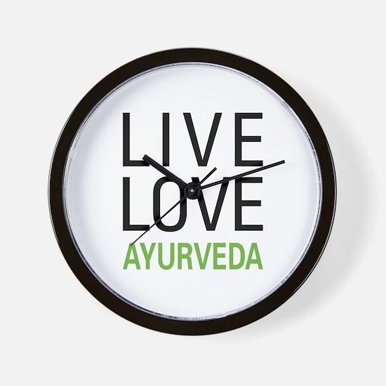 Live Love Ayurveda Wall Clock