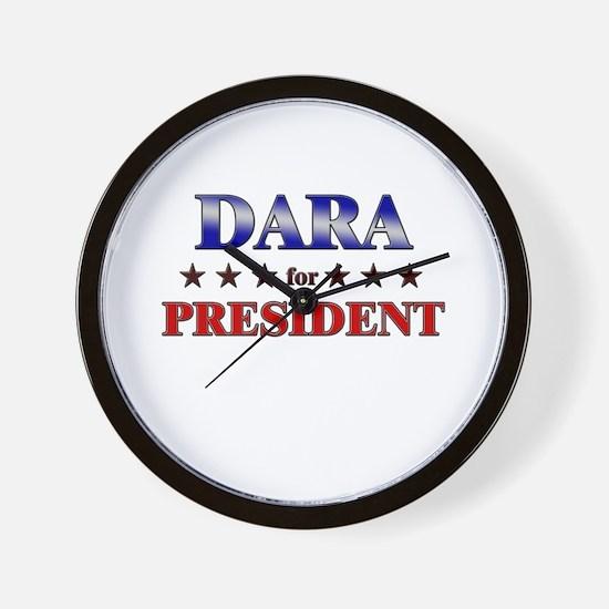 DARA for president Wall Clock