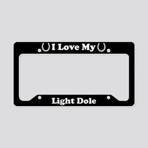 I Love My Light Dole Horse License Plate Holder
