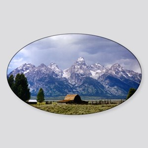 Grand Tetons National Park Oval Sticker