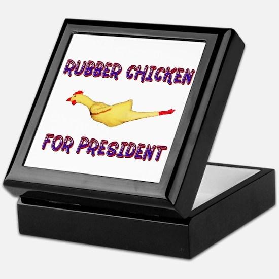 Rubber Chicken for President Keepsake Box