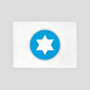 Star of David - Abstract 5'x7'Area Rug