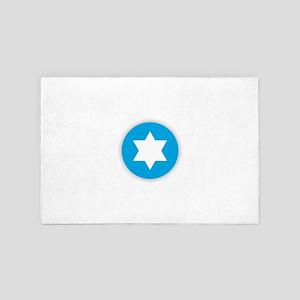Star of David - Abstract 4' x 6' Rug