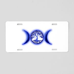 blue tree of life waxing waying moon Aluminum Lice