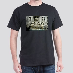 Trevi Fountain 1 Dark T-Shirt