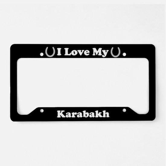 I Love My Karabakh Horse License Plate Holder