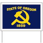 New Oregon Flag Yard Sign