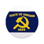 "New Oregon Flag 3.5"" Button"