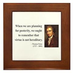 Thomas Paine 12 Framed Tile