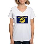New Oregon Flag Women's V-Neck T-Shirt