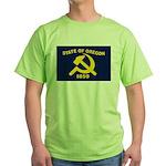 New Oregon Flag Green T-Shirt