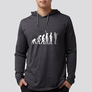 evolution trumpet player Long Sleeve T-Shirt