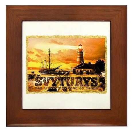Svyturys Light House Framed Tile