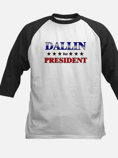 DALLIN for president Kids Baseball Jersey