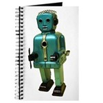 60's vintage blue Robot Journal