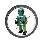 60's vintage blue Robot Wall Clock