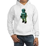 60's vintage blue Robot Hooded Sweatshirt