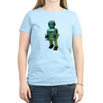 60's vintage blue Robot Women's Light T-Shirt