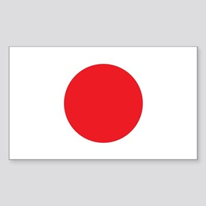 Japanese Flag Rectangle Sticker