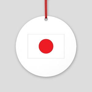 Japanese Flag Ornament (Round)
