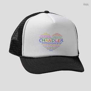 I Heart Chandler Quotes Kids Trucker hat