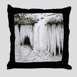 Winter Falls Throw Pillow