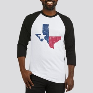 Vintage Texas State Outline Flag Baseball Jersey