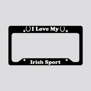 I Love My Irish Sport Horse License Plate Holder