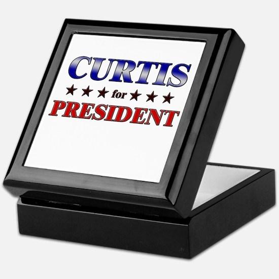 CURTIS for president Keepsake Box