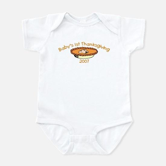 Baby's 1st Thanksgiving 2007 (Pie) Infant Bodysuit