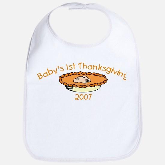 Baby's 1st Thanksgiving 2007 (Pie) Bib