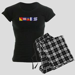 Say it for the Oceans Women's Dark Pajamas