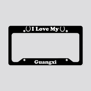 I Love My Guangxi Horse License Plate Holder