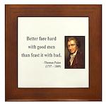Thomas Paine 16 Framed Tile