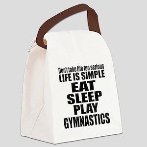 Life Is Eat Sleep And Gymnastics Canvas Lunch Bag