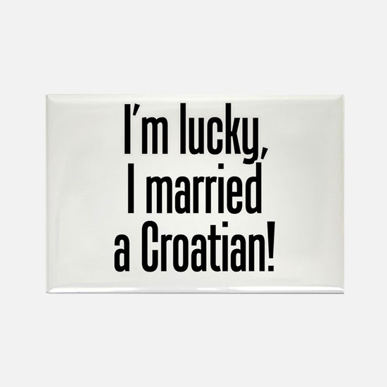 Married a Croatian Rectangle Magnet