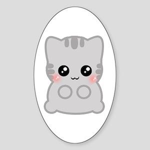 Neko Oval Sticker