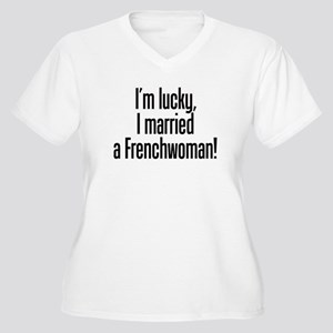 Married a Frenchwoman Women's Plus Size V-Neck T-S