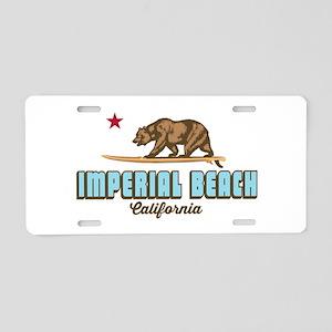 Imperial Beach - California Aluminum License Plate