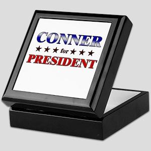 CONNER for president Keepsake Box