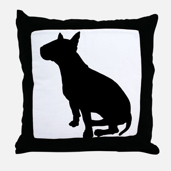 Bull Terrier Dog Breed Throw Pillow