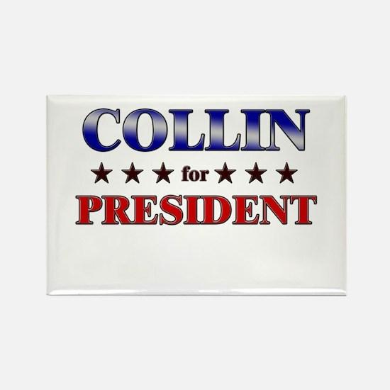 COLLIN for president Rectangle Magnet