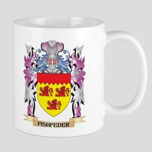 Fishfeder Coat of Arms (Family Crest) Mugs