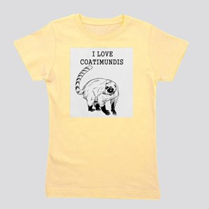 I Love Coatimundis Girl's Tee