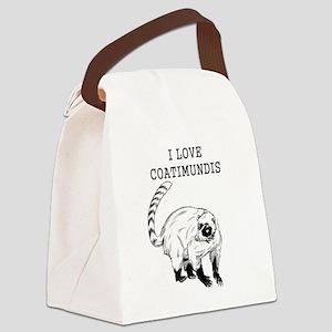 I Love Coatimundis Canvas Lunch Bag